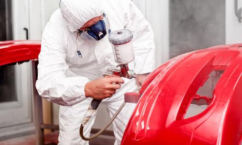 Powder coating with spray gun